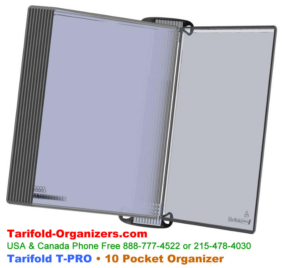 Tarifold T-Pro Organizer with a magnetic fixing system.