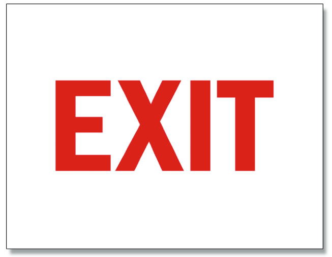 Magneto EXIT sign.