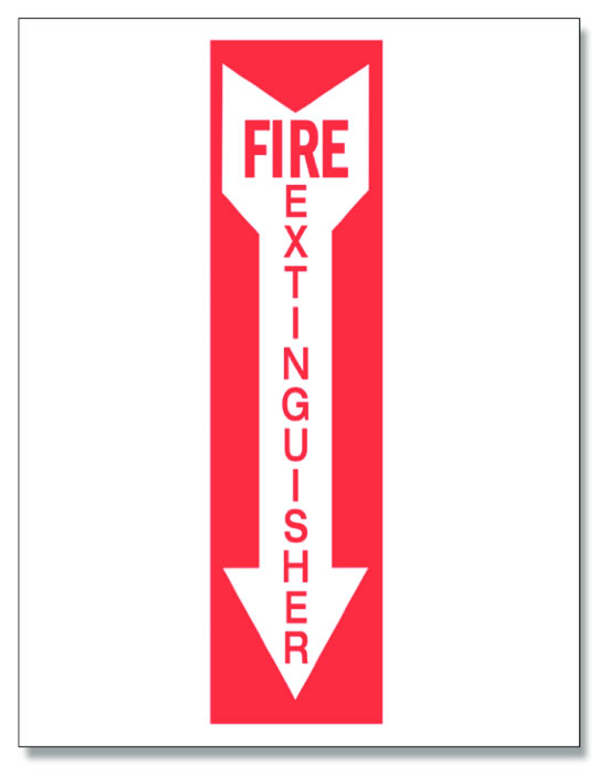 Magneto fire extinguisher sign.