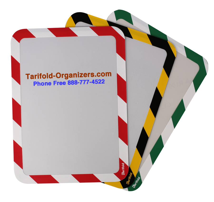 Tarifold safety signage from Tarifold-Organizers.com.