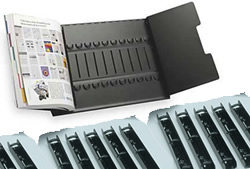 Tarifold 50411 Catalog Starter Rack with 12 sections.