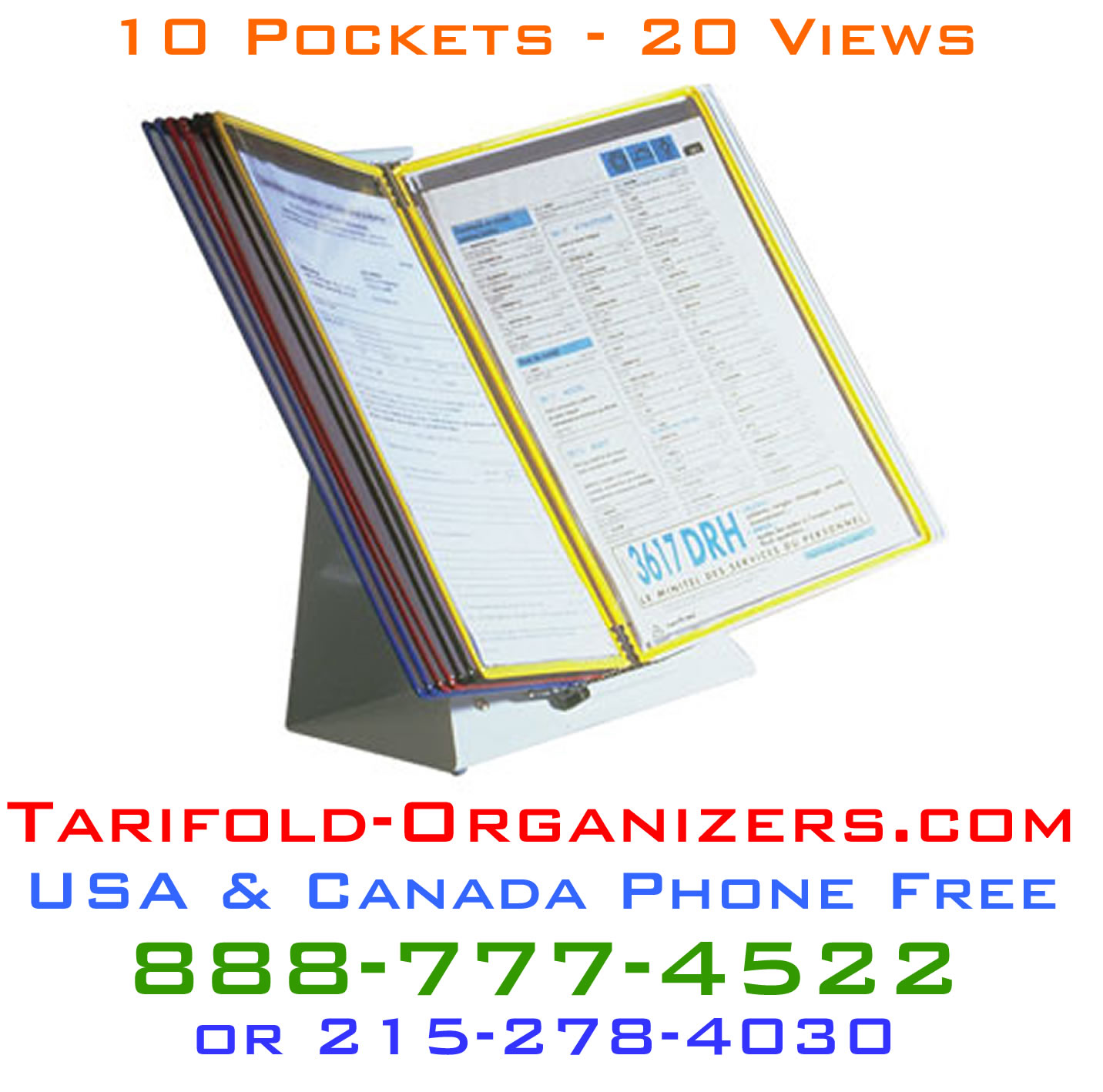 Tarifold Organizers - the number one family of desktop organizers in the USA today.
