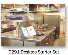 The Tarifold D291 perfectly displays chef's recipes at the point of production in busy commercial kitchens.