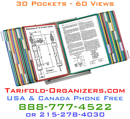 Tarifold D293 30 pocket 60 view desktop organizer for all your frequently referenced spec and data sheets.