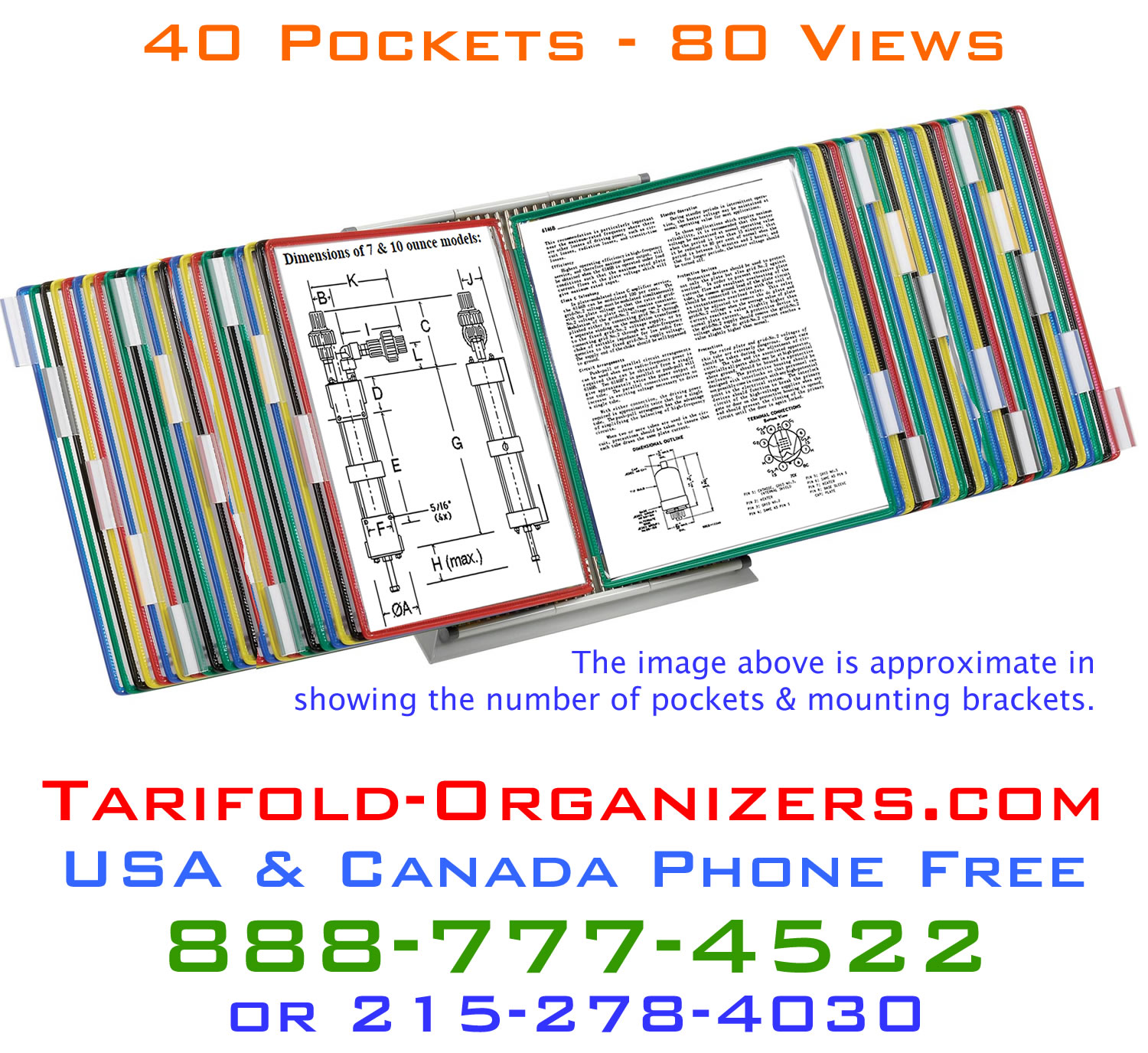 Business depends on Tarifold Organizers to do just that- get organized and stay organized.