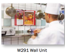Tarifold W291 work well in commercial kitchens for recipe availability.