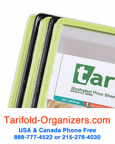 Tarifold organizers black and green pockets combination pack.