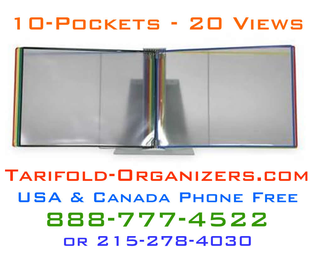 Tarifold organizers offers shipment from a vast inventory of product.