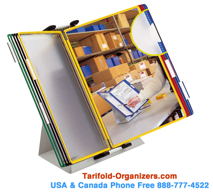 Tarifold desktop stands are in-stock and can ship out to you today in the USA and Canada. Call 888-777-4522 now.