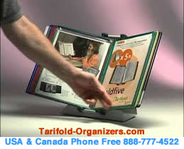 Tarifold desktop organizers are used widely in US Government offices.