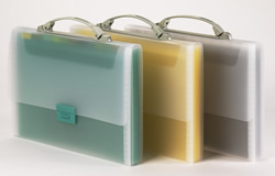 Tarifold expanding file briefcases.