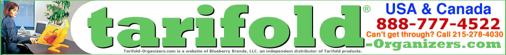 Tarifold-Organizers.com is a website of Blueberry Brands, LLC., an independent distributor of Tarifold® Products.