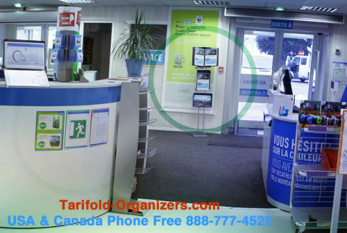 Tarifold organizers are widely used in retail marketing.